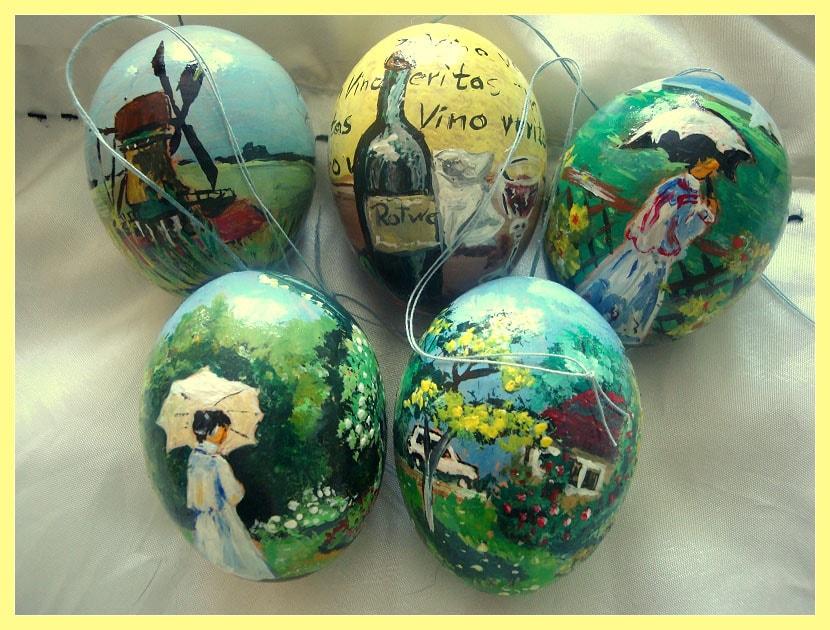 Petra S Kunststudio Eine Kleine Auswahl Meiner Bemalten Eier